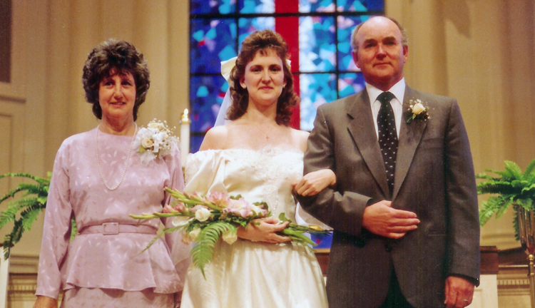 1989 wedding day