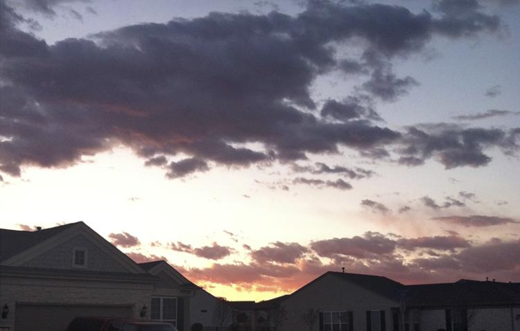 Sunset on Texas