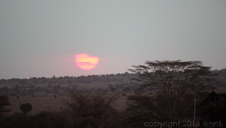 Sunset as we head back to camp...our first day of safari at an end.