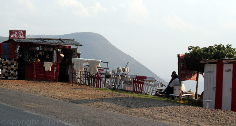 Souvenir shop on the road to Maasai Mara, one of many.